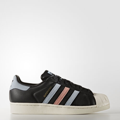 adidas - Superstar Shoes Core Black/Easy Blue/Haze Coral BB2141