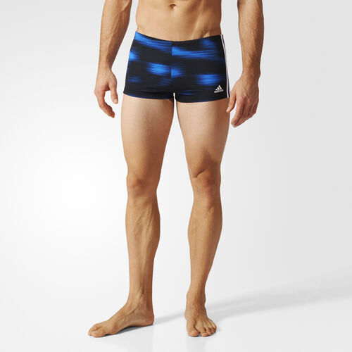 adidas - 3-Stripes Graphic Swim Boxers Black/Blue BP5807
