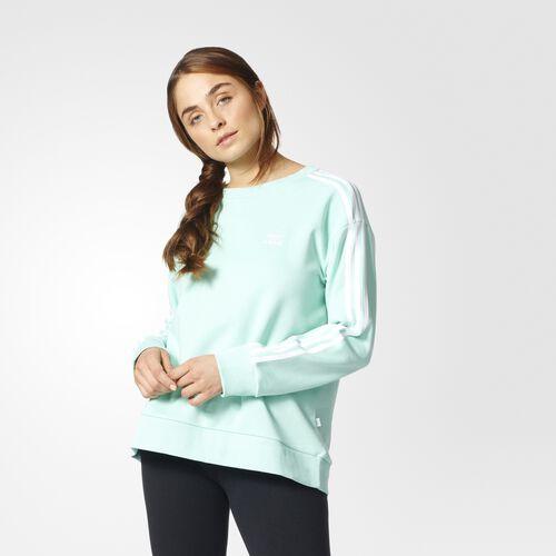 adidas - 3-Stripes A-Line Sweatshirt Easy Green BJ8204
