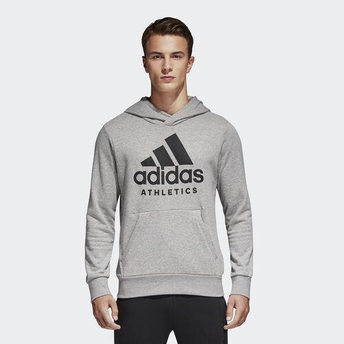 adidas - Sport ID Pullover Hoodie Medium Grey Heather/Black B47375