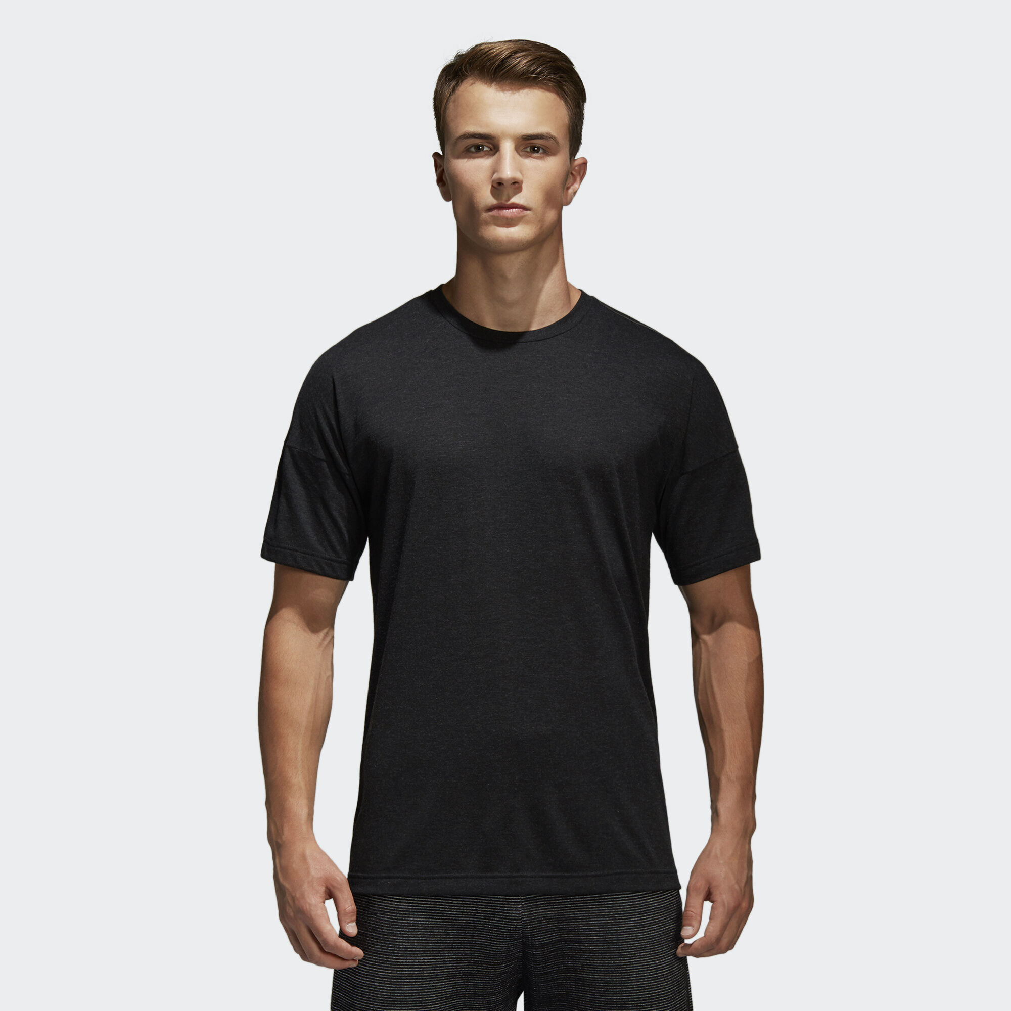 Adidas z n e tee black adidas regional for Model black t shirt