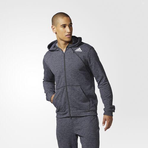 adidas - Cross-Up Hoodie Utility Black/Medium Grey Heather Solid Grey BK1278