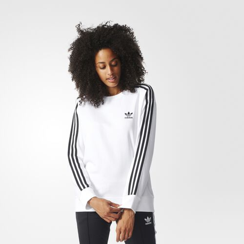 adidas - 3-Stripes A-Line Sweatshirt White BJ8193