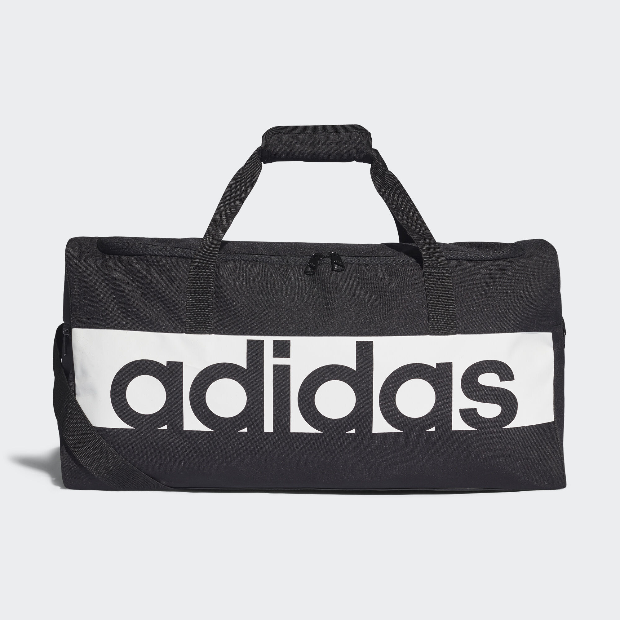 adidas linear performance team bag medium black adidas uk. Black Bedroom Furniture Sets. Home Design Ideas