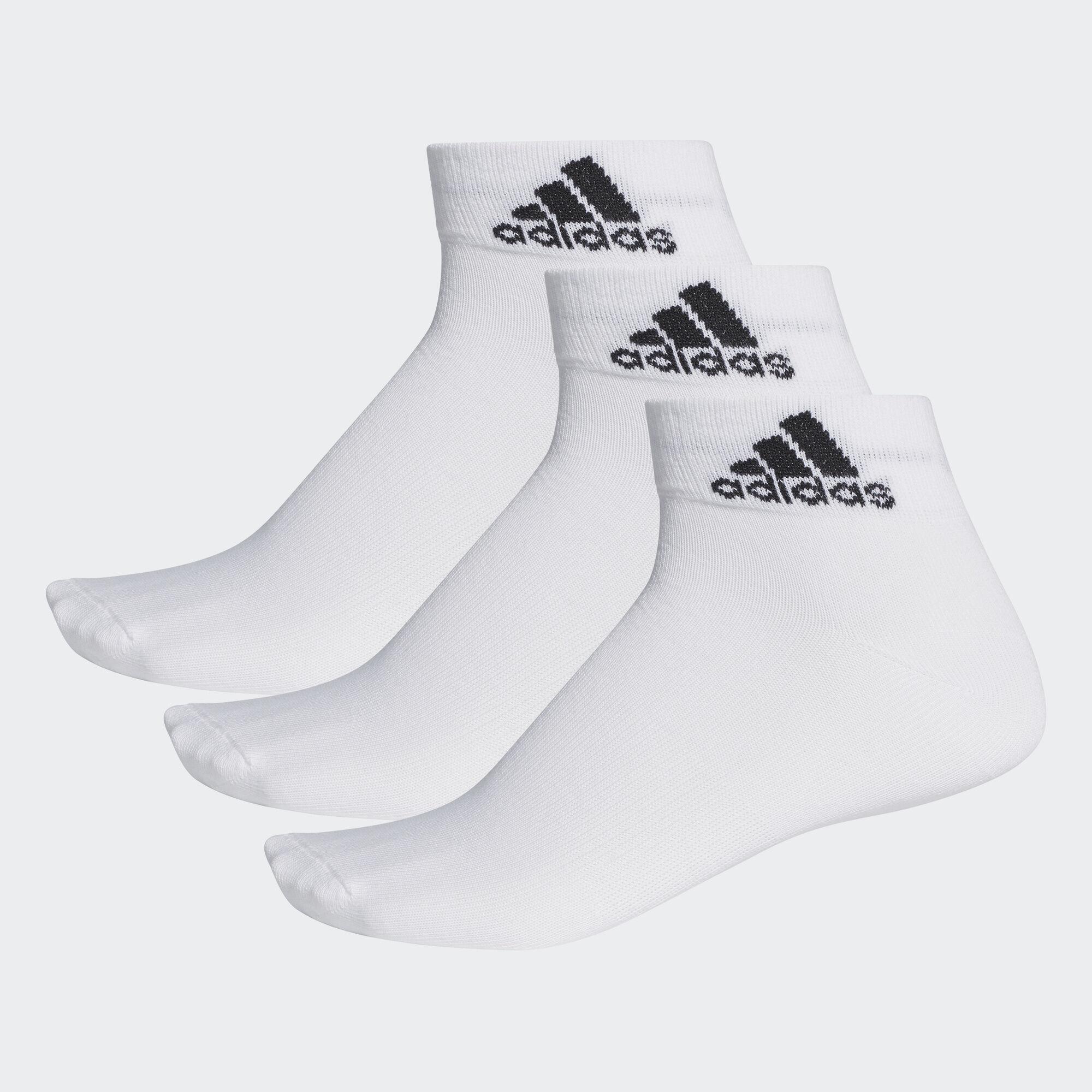 adidas - Performance Thin Ankle Socks 3 Pairs White AA2320. Training