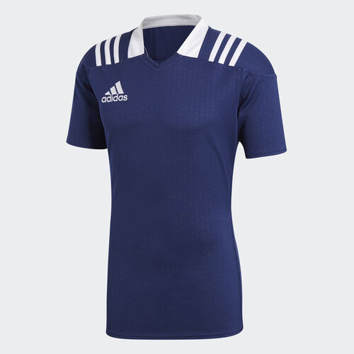 adidas - 3-Stripes Fitted rugbytrøje Dark Blue BS3185