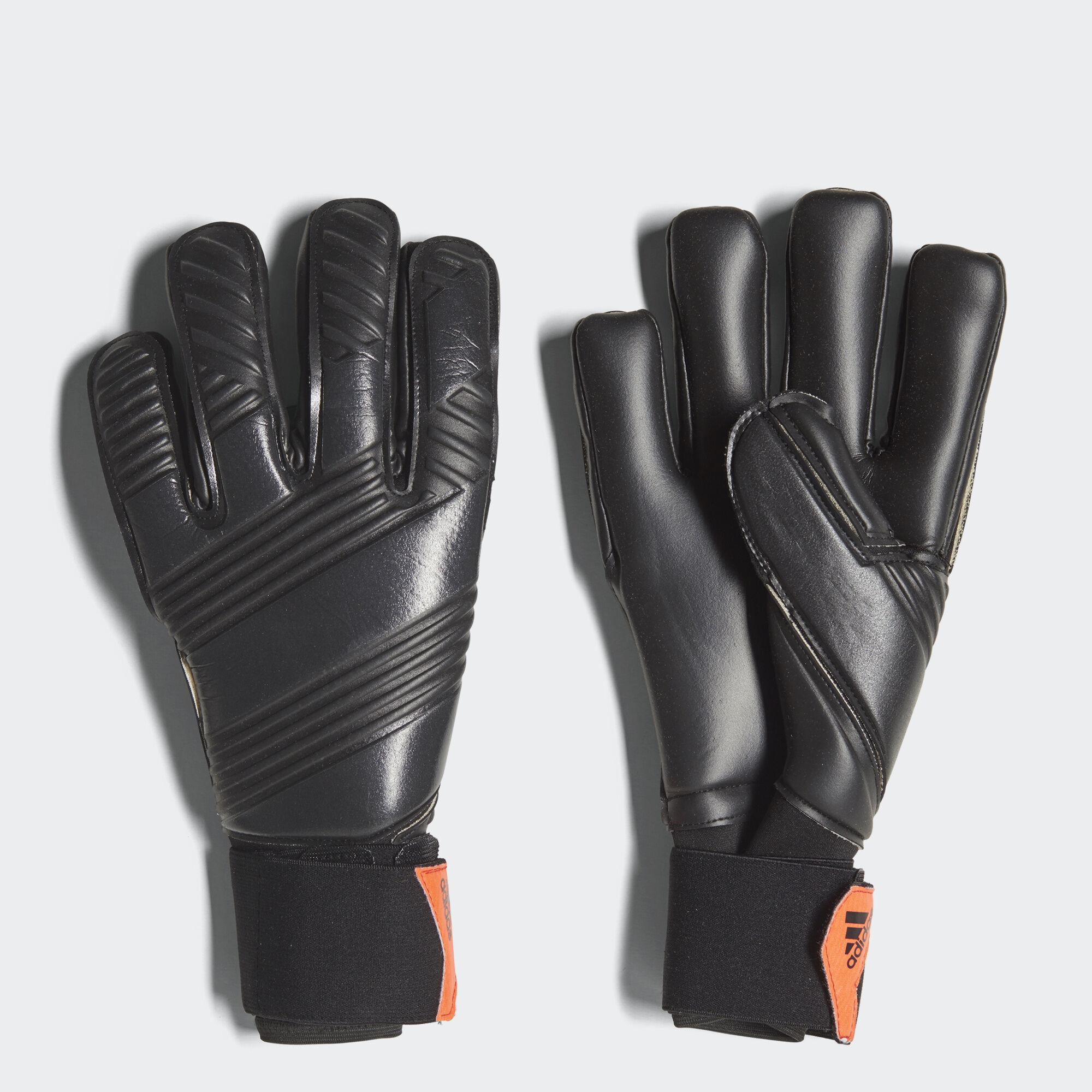 Black goalkeeper gloves - Adidas Classic Pro Goalkeeper Gloves Black Glossy Blue Denim Solar Red Ap7009