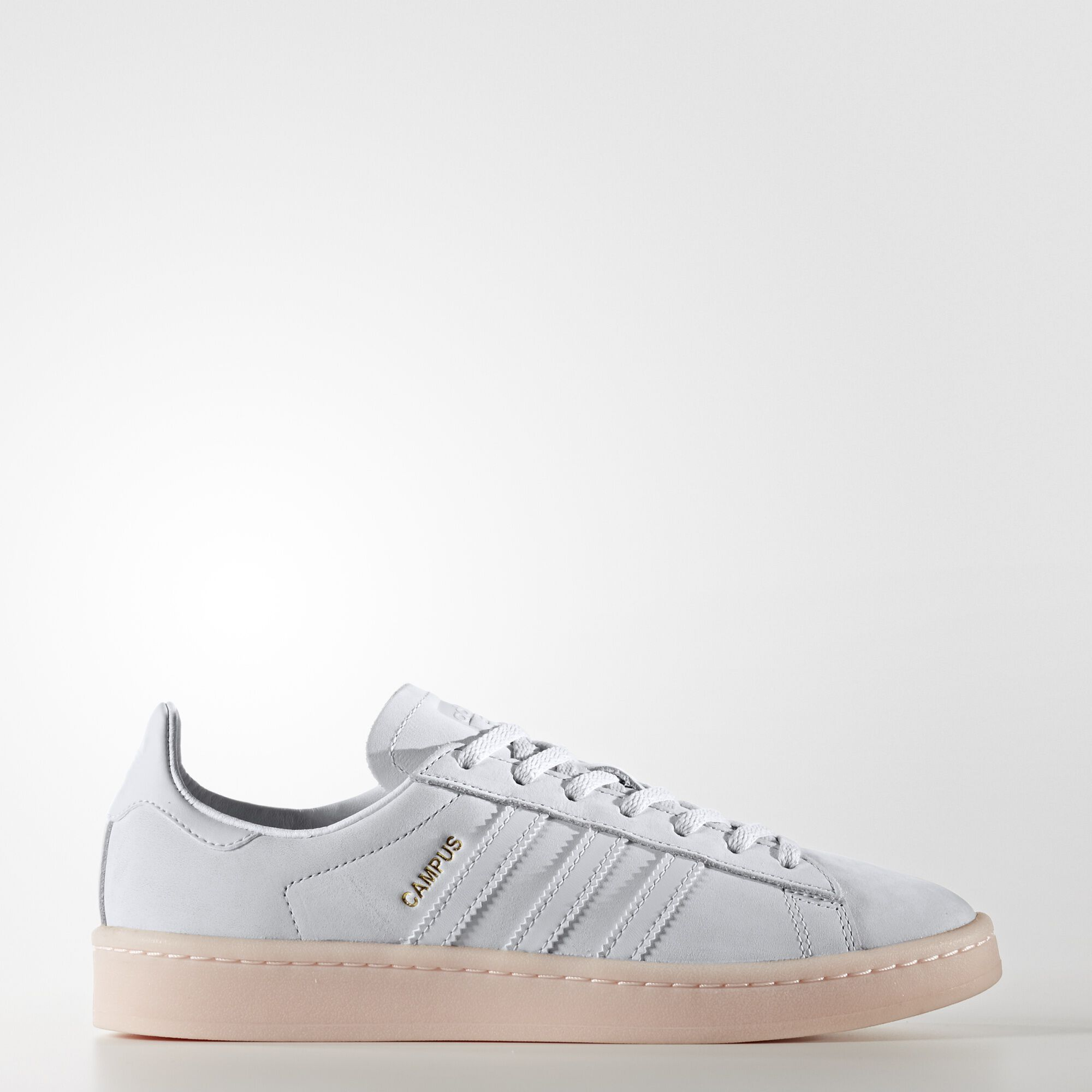 adidas - Campus Shoes Grey/Crystal White/Crystal White/Icey Pink BY9839