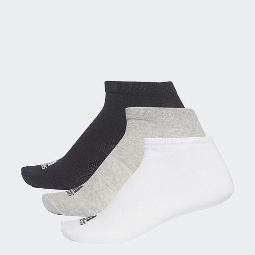 adidas - Meias Invisíveis Performance — 3 pares Black/Medium Grey Heather/White AA2313