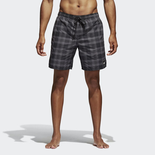 adidas - adidas checked water swim short Black/Granite/Grey BJ8641