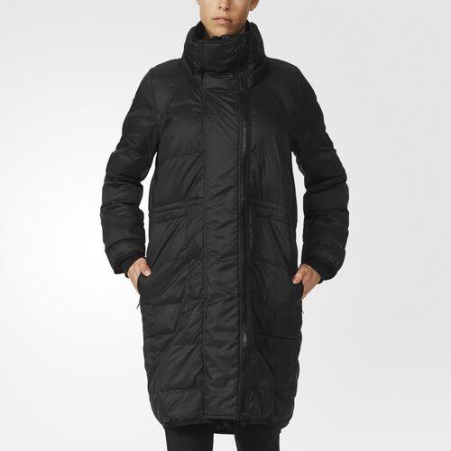 adidas - Essentials Jacka i lång modell med vaddering Black AX7111