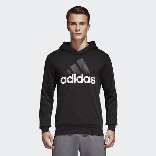 adidas - Mikina Essentials Linear Pullover Hoodie BLACK/WHITE S98772