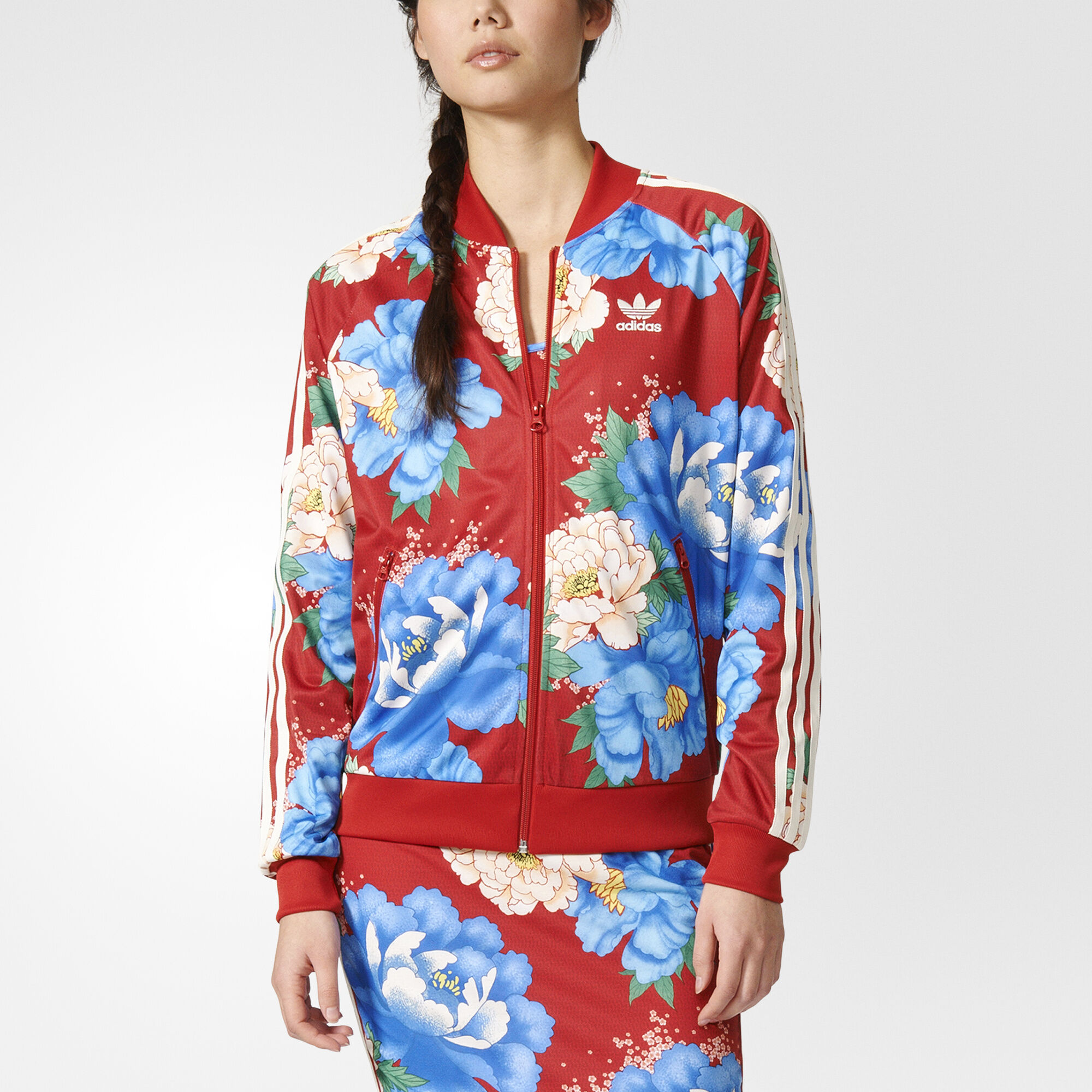 Buy adidas floral track jacket > OFF39% Discounted