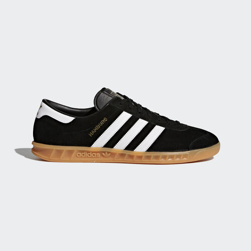 adidas - Hamburg Shoes Core Black/Footwear White/Gum S76696