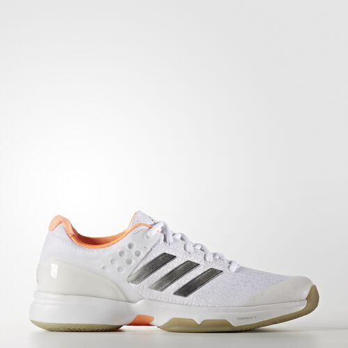 adidas - adizero Ubersonic 2.0 Shoes Footwear White/Silver Metallic/Glow Orange BB4811