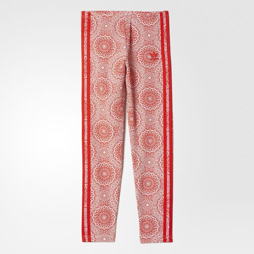 adidas - Leggings Light Grey Heather/Core Red/White BK0427