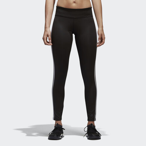 adidas - D2M 3-Stripes Long Tights Black/White BQ2072