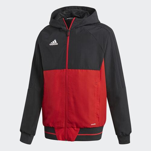 adidas - Tiro 17 Presentation Jacket Black/Scarlet/White BQ2782