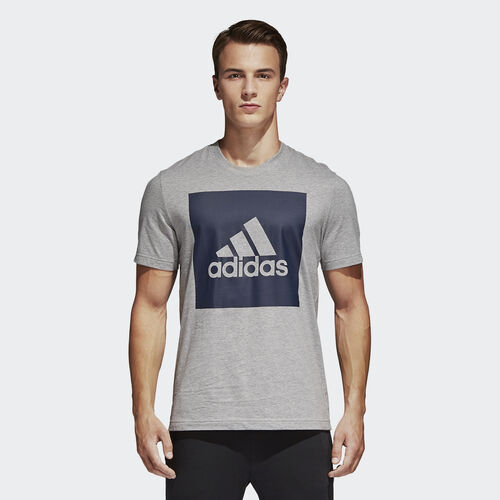 adidas - Essentials Box Logo Tee Medium Grey Heather S98725