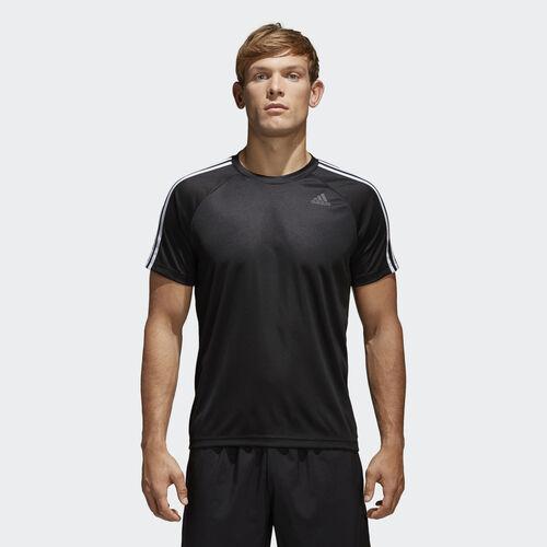 adidas - DESIGN TO MOVE TEE 3 STRIPES Black BK0970