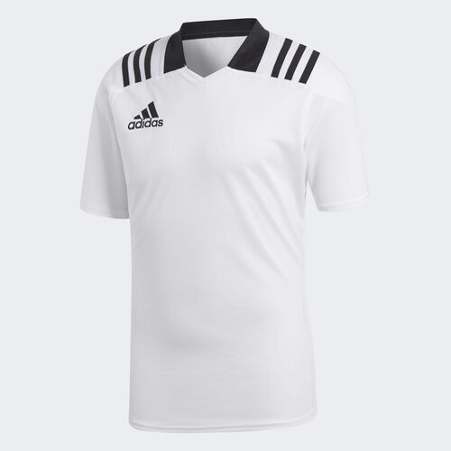adidas - 3-Stripes Fitted Rugby Jersey White CD7965