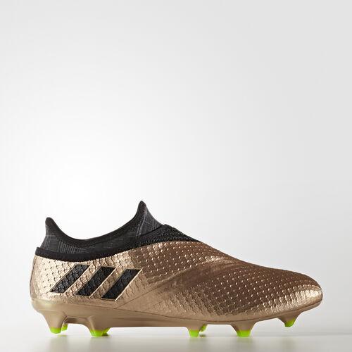 adidas - Messi 16+ Pureagility Firm Ground Boots Copper Metallic/Core Black/Solar Green BA9821