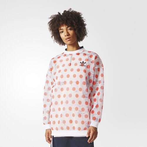 adidas - Sweatshirt White/Bold Orange BQ5738