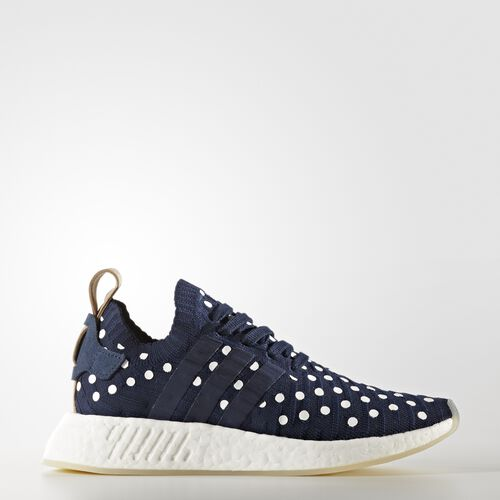 adidas - Buty NMD_R2 Primeknit Shoes Collegiate Navy/Footwear White BA7560