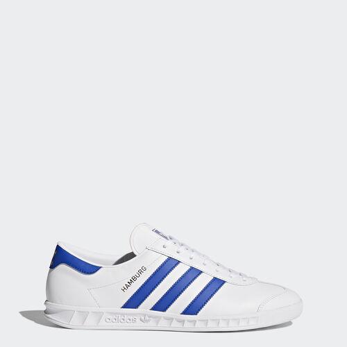 adidas - Hamburg Shoes Footwear White/Bold Blue/Gold Metalic BY9758
