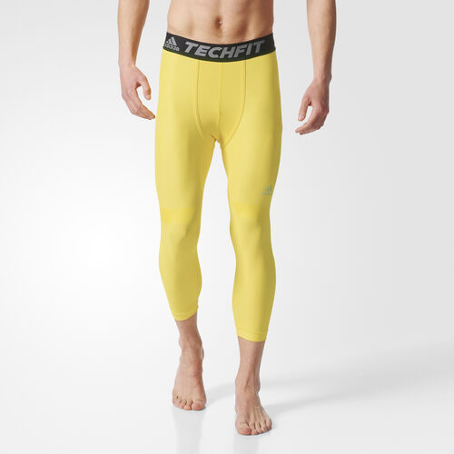 adidas - TECHFIT CHILL 3/4 TIGHTS Eqt Yellow CF6807