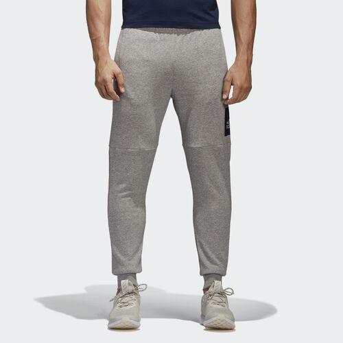 adidas - Essentials Box Logo Pants Medium Grey Heather/Collegiate Navy BK7440