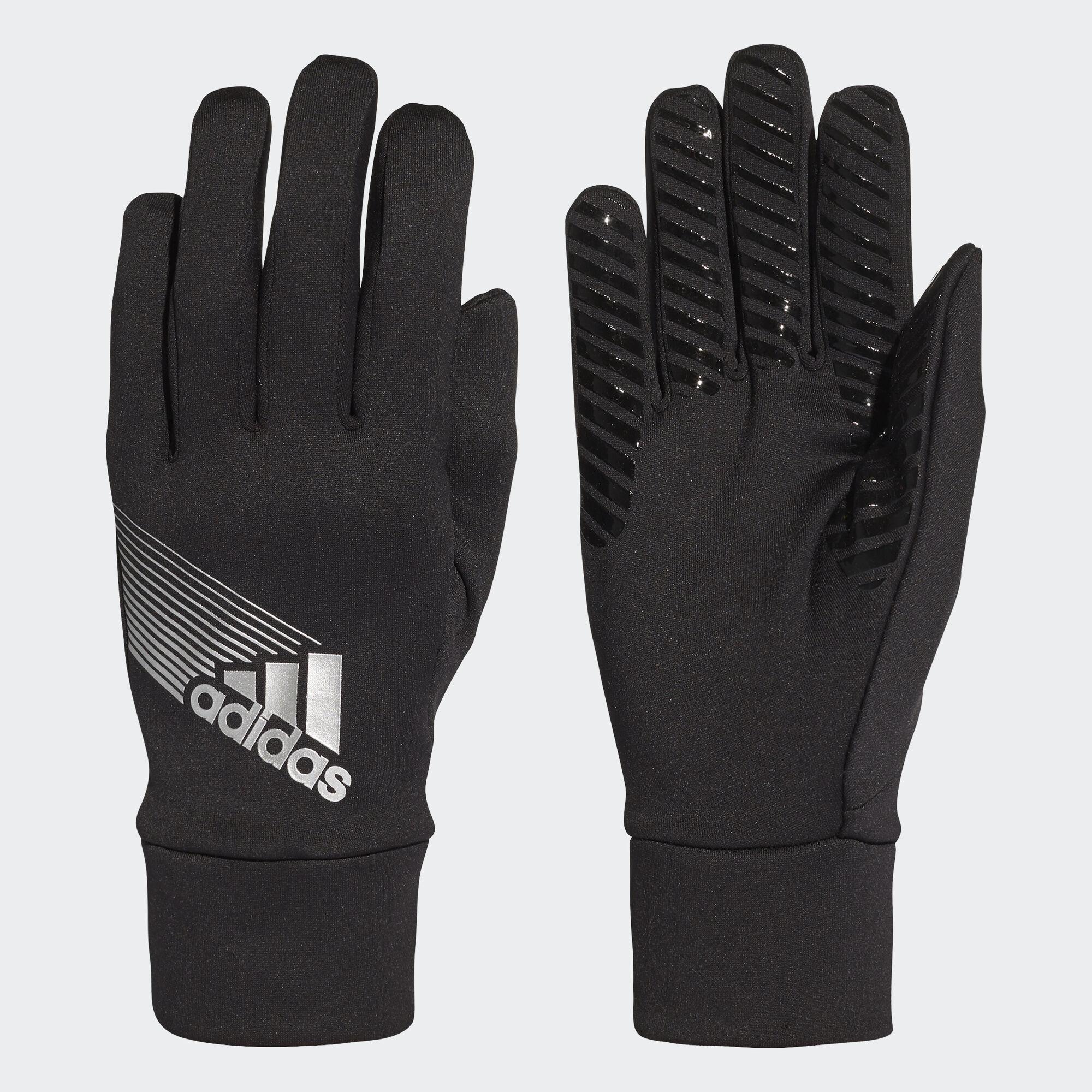 Black light gloves - Adidas Field Player Climaproof Gloves Black Light Grey W44097