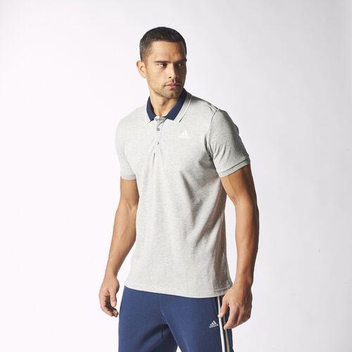 adidas - Sport Essentials Polo Shirt Medium Grey Heather/White S12888