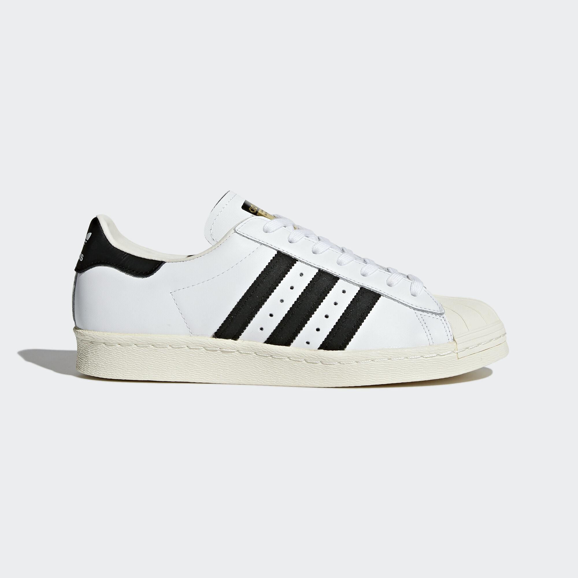 adidas , Zapatilla Superstar 80s White/Core Black/Chalk White G61070