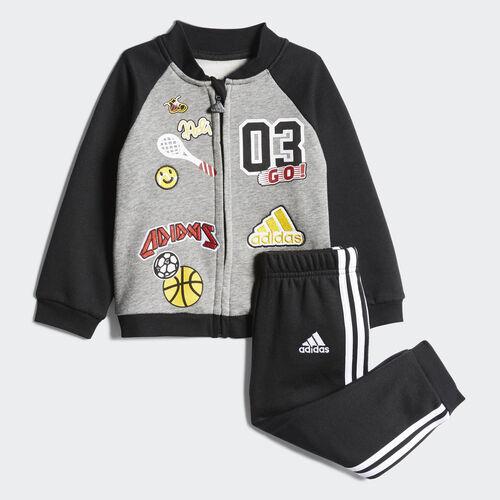adidas - Fun Fleece Jogger Set Core Heather/Black CE9729