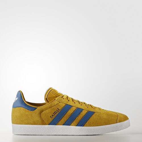 adidas - Gazelle Shoes Nomad Yellow/Core Blue/Footwear White BB5258