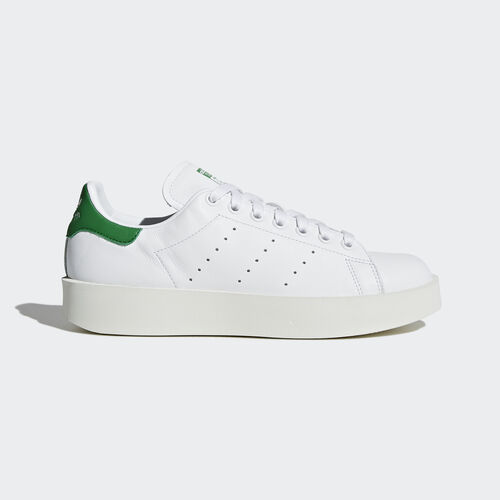 adidas - Stan Smith Bold Shoes Footwear White/Green S32266