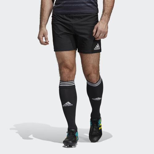 adidas - Classic 3-Stripes Rugby Short Black / White A96673