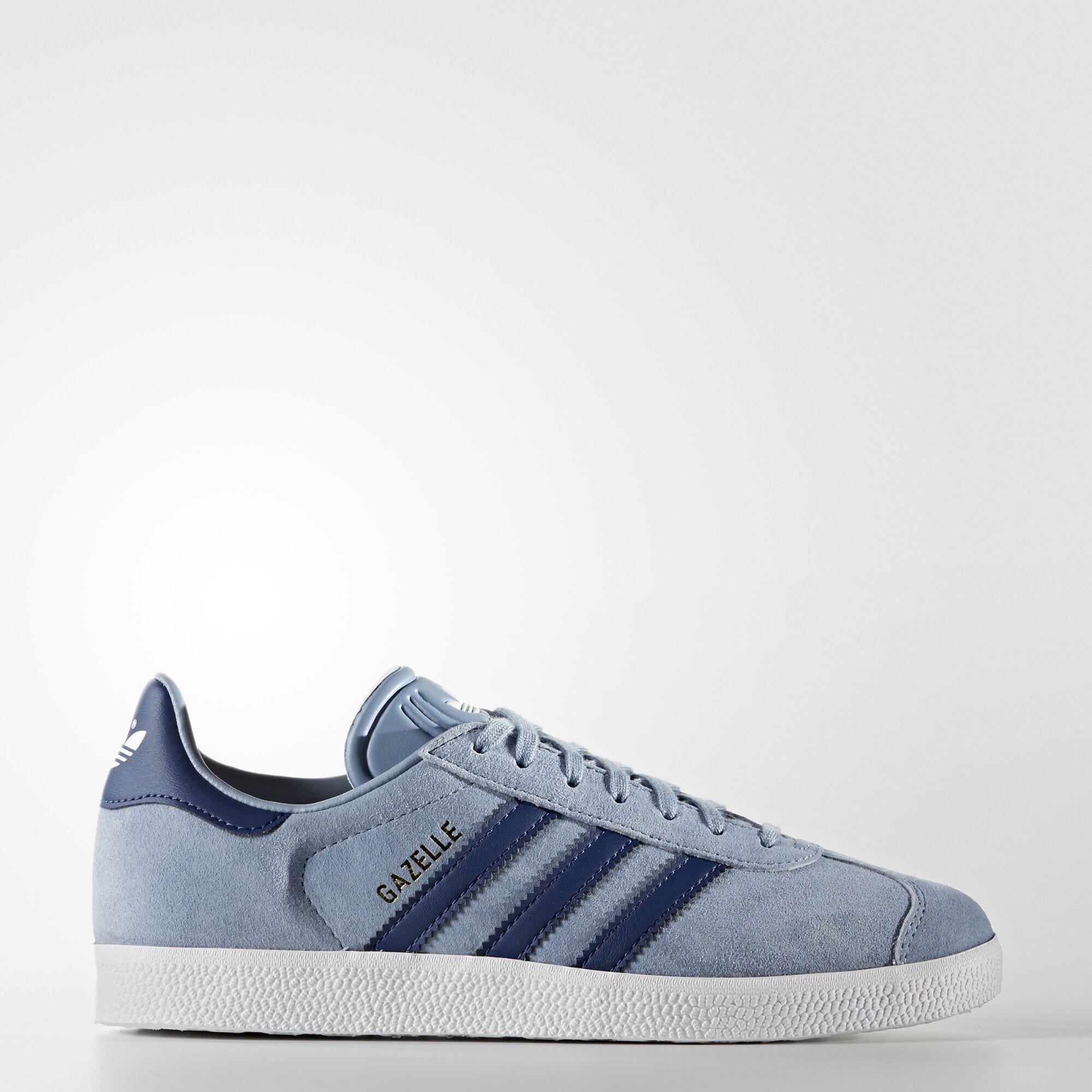 adidas gazelle blue leather