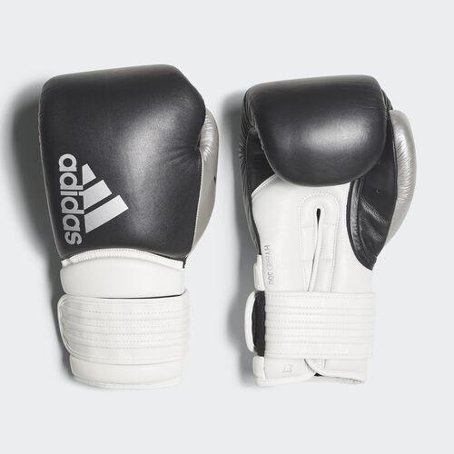 adidas - Hybrid 300 Boxing Gloves Black / White / Shiny Silver-R CI9186