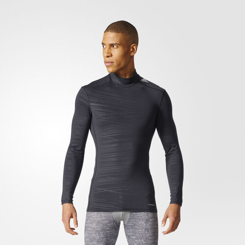 adidas - Techfit Climawarm Shirt Black/Print CD3851