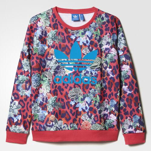 adidas - S Rose Crew Sweatshirt Multicolor/White S96102