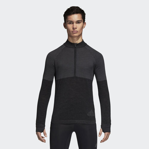 adidas - Climaheat Primeknit Sweatshirt Grey Three /Grey Five BQ4974