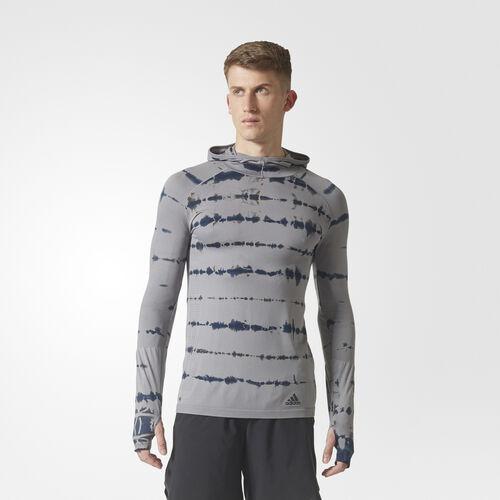 adidas - Primeknit Hooded Tee Grey Three /Grey Five BQ9389