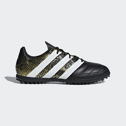 adidas - ACE 16.3 TF Fußballschuh aus Leder Core Black/ White/Gold Met. AQ2070