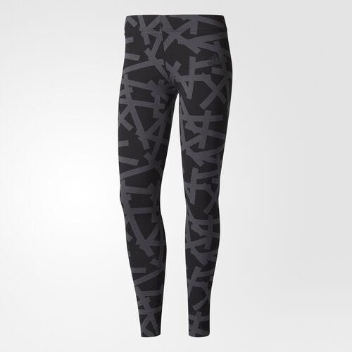 adidas - Essentials Allover Print Tights Dgh Solid Grey BR2537