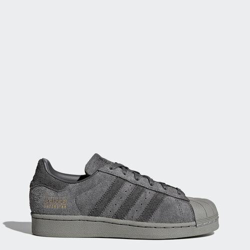 adidas - Superstar Shoes Grey Five /Utility Black /Gold Metalic BZ0355