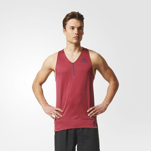 adidas - Camiseta de corredor adizero Collegiate Burgundy BQ8850