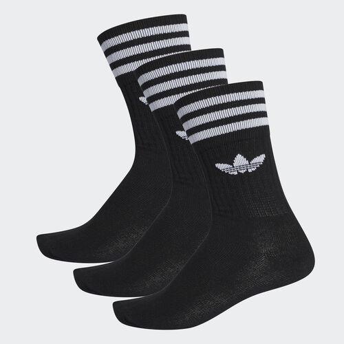 adidas - Crew Socks 3 Pairs Black/White S21490