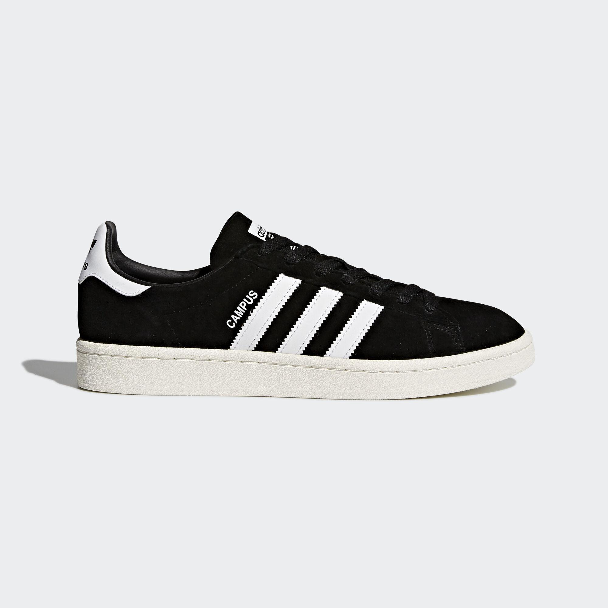 adidas - Campus Shoes Core Black/Footwear White/Chalk White BZ0084.  Originals